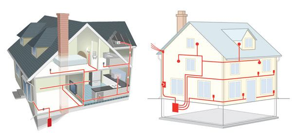 rewire a house